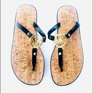 Michael Kors sandals. Size 8 M, Black, Brass.